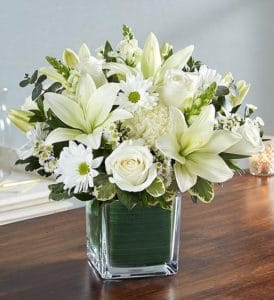 Condolence Basket Flowers